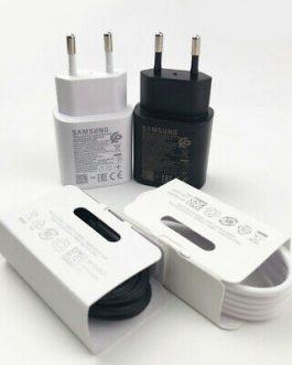 آداپتور شارژر اصلی سامسونگ   Samsung Charger Adapter With Cable Note 10 مشکی