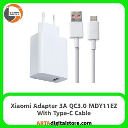 آداپتور شارژر شیائومی  Xiaomi Adapter MDY-11-EZ 3A QC3.0 Note 9 با کابل Type-C