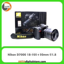 دوربین نیکون Nikon D7000 لنز 18-105 و لنز 50mm f/1.8